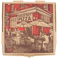 10 inch x 10 inch x 1 3/4 inch Kraft Corrugated Pizza Box - 50/Case