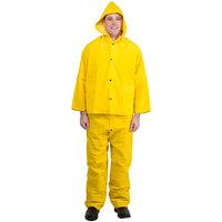 Yellow 3 Piece Rainsuit - XXL