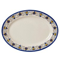 GET OP-630-SL Santa Lucia 30 inch x 20 1/4 inch Oval Platter - 6/Pack