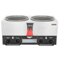 Vollrath 72028 Cayenne Twin 7 Qt. Countertop Warmer with Independent Timers - 120V, 1400W