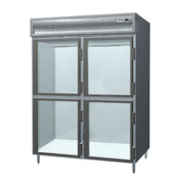 Delfield SMR2S-GH Stainless Steel 38 Cu. Ft. Two Section Solid Half Door Shallow Reach In Refrigerator - Specification Line