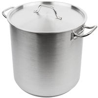 Vollrath 3509 Optio 38 Qt. Stainless Steel Stock Pot with Cover