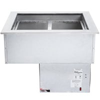 APW Wyott CW-2 2 Pan Drop In Refrigerated Cold Food Well 120V