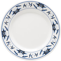 GET M-5090-B Water Lily 10 1/2 inch Melamine Plate - 12/Pack