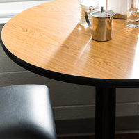 ... Lancaster Table U0026 Seating 30 Inch Laminated Round Table Top Reversible  Walnut / Oak