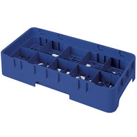 Cambro 10HS318186 Navy Blue Camrack Customizable 10 Compartment 3 5/8 inch Half Size Glass Rack