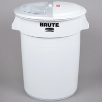 Rubbermaid FG9G7500WHT ProSave Brute 32 Gallon Ingredient Storage Bin with 4 Cup Measuring Scoop