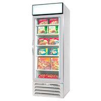Beverage Air MMF23-1-W White Marketmax Glass Door Merchandising Freezer with Swing Door - 23 Cu. Ft.