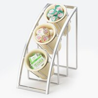 Cal Mil 1747-3-39 Silver Mission Sloped 3-Tier Cylinder Display – 7 inch x 13 inch x 13 inch