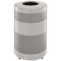 Rubbermaid FGS55SSTSSPL Perforated Stainless Steel Waste Receptacle 51 Gallon