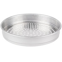 American Metalcraft HA5010SP 10 inch x 2 inch Super Perforated Heavy Weight Aluminum Straight Sided Pizza Pan