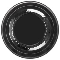 Fineline Silver Splendor 506-BKS 6 inch Black Plastic Plate with Silver Bands - 150/Case