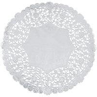 10 inch Silver Foil Lace Doily - 500/Case