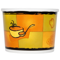 Huhtamaki Chinet 71850 Streetside Print 12 oz. Double-Wall Poly Paper Soup / Hot Food Cup with Vented Paper Lid - 250/Case
