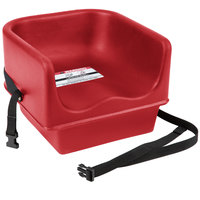 Cambro 100BCS158 Hot Red Plastic Booster Seat - Single Seat with Strap