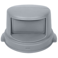 Continental 3232GY Huskee 32 Gallon Gray Dome Top Trash Can Lid