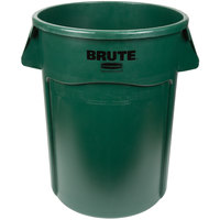 Rubbermaid 1779741 BRUTE 44 Gallon Green Trash Can