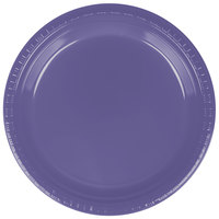 Creative Converting 28115021 9 inch Purple Plastic Plate - 240/Case