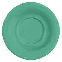 GET SU-3-FG Diamond Mardi Gras 5 1/2 inch Rainforest Green Melamine Saucer for GET B-105, BC-70, BC-170, B-454, and C-107 Bowls and Mugs - 48/Case