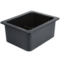 Cambro 26CF110 ColdFest 1/2 Size Black ABS Plastic Food Pan - 6 inch Deep