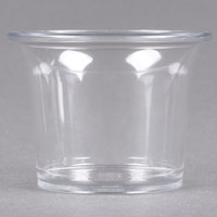 Carlisle 250007 2.5 oz. Clear Round Plastic Sauce Cup - 72/Case