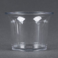 Carlisle 250007 2.5 oz. Clear Round Plastic Sauce Cup - 72 / Case