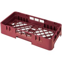 Cambro HBR258416 Cranberry Camrack Customizable Half Size Open Base Rack