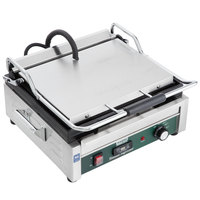 Waring WFG250T Tostato Supremo Large Smooth Top & Bottom Panini Sandwich Grill with Timer - 14 1/2 inch x 11 inch Cooking Surface - 120V, 1800W