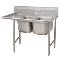 Advance Tabco 9-22-40-24 Super Saver Two Compartment Pot Sink with One Drainboard - 72 inch