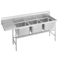 Advance Tabco 94-3-54-24 Spec Line Three Compartment Pot Sink with One Drainboard - 83 inch
