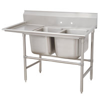 Advance Tabco 94-62-36-24 Spec Line Two Compartment Pot Sink with One Drainboard - 68 inch
