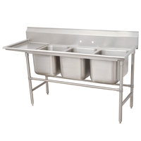 Advance Tabco 94-63-54-24 Spec Line Three Compartment Pot Sink with One Drainboard - 89 inch