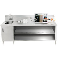 Advance Tabco BEV-30-108 Enclosed Base Beverage Table - 108 inch