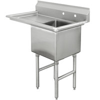 Advance Tabco FC-1-1818-24 One Compartment Stainless Steel Commercial Sink with One Drainboard - 45 inch
