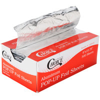 Choice 9 inch x 10 3/4 inch Food Service Interfolded Pop-Up Foil Sheets - 500/Box