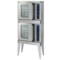 Alto-Shaam 2-ASC-2E/STK Platinum Series Stacked Half Size Electric Convection Oven with Manual Controls - 240V, 3 Phase