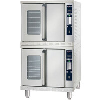Alto-Shaam ASC-4ESTE Platinum Series Stacked Full Size Electric Convection Oven with Electronic Controls - 10,400 Watt