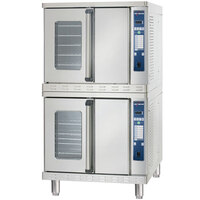 Alto-Shaam 2-ASC-4G / STK / E Platinum Series Stacked Full Size Gas Convection Ovens with Electronic Controls - 50,000 BTU per Oven