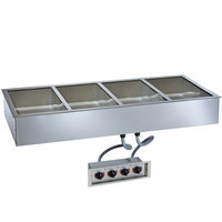 Alto-Shaam 400-HW/D6 Four Pan Drop In Hot Food Well - 6 inch Deep Pans