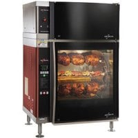 Alto-Shaam AR-7EVH-SGLPANE Single Pane Flat Glass Rotisserie Oven with 7 Spits and Ventless Hood