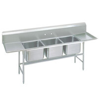 Advance Tabco 94-63-54-24RL Spec Line Three Compartment Pot Sink with Two Drainboards - 109 inch