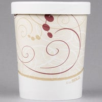 Dart Solo KH32A-J8000 Symphony Print 32 oz. Double-Wall Poly Paper Soup / Hot Food Cup with Vented Paper Lid - 250/Case
