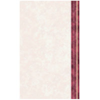8 1/2 inch x 14 inch Menu Paper Right Insert - Ribbed Marble Border - 100/Pack
