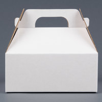 LBP 9548 8 1/2 inch x 5 1/2 inch x 3 1/2 inch White Barn Take Out Box with Handle 50/Case