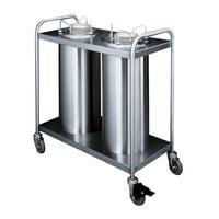 APW Wyott HTL2-7 Trendline Mobile Heated Two Tube Dish Dispenser for 6 5/8 inch to 7 1/4 inch Dishes