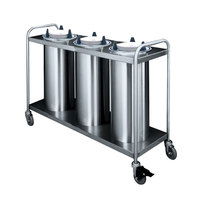 APW Wyott HTL3-10 Trendline Mobile Heated Three Tube Dish Dispenser for 9 1/4 inch to 10 1/8 inch Dishes