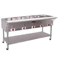 APW Wyott PSST5 Portable Steam Table - Five Pan - Sealed Well