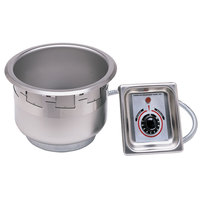 APW Wyott SM-50-7D UL 7 Qt. Round Drop In Soup Well with Drain