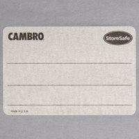 Cambro 23SLINB250 250 Count StoreSafe 3 inch x 2 inch Blank Dissolvable Product Label Roll - 24/Case