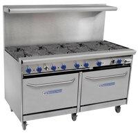 Bakers Pride Restaurant Series 60-BP-10B-S26 10 Burner Gas Range with Two Standard 26 inch Ovens